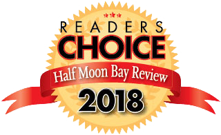 2018 Half Moon Bay Review Readers Choice award winner badge