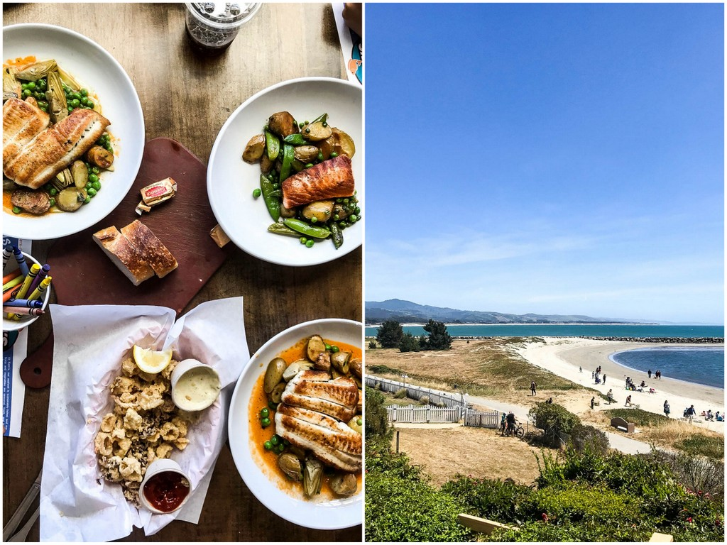 fresh seafood and ocean views at Sam's Chowder House in Half Moon Bay