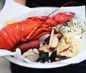 Sam's Chowder House custom private dining  menus