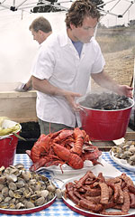 wedding menus - lobster clambakes
