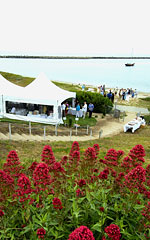wedding event spaces - beach front lawn